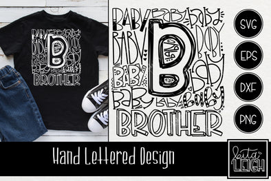 Baby Brother Typography SVG