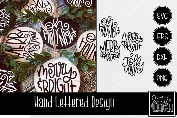 Hand Lettered Christmas Rounds SVG