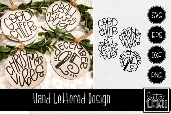 Mega Hand Lettered Christmas Rounds Bundle
