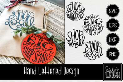 Small Business Hand Lettered Rounds