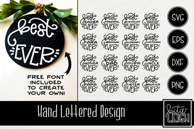 Best Ever Hand Lettered Rounds SVG and Free Font