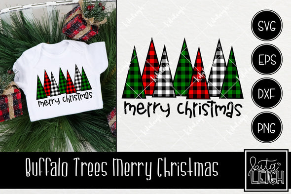 Buffalo Trees Christmas SVG