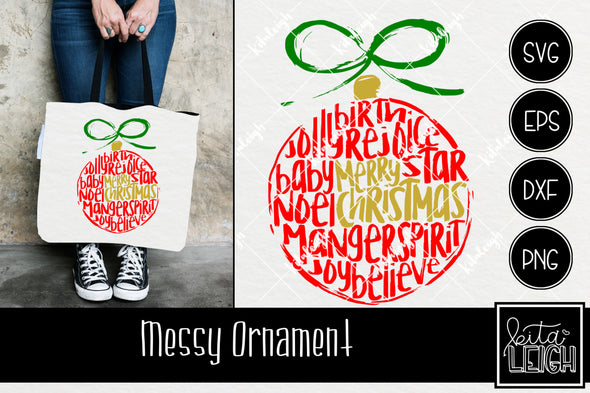 Messy Christmas Ornament  SVG