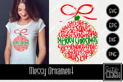 Messy Christmas Ornament  SVG 2