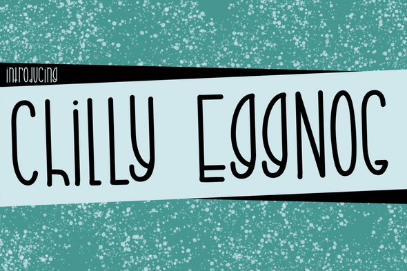 Chilly Eggnog a Joyful Font