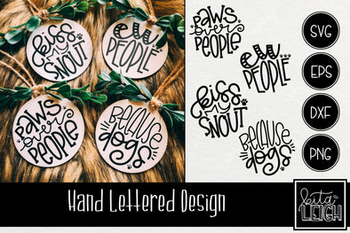 Dog Hand Lettered Rounds