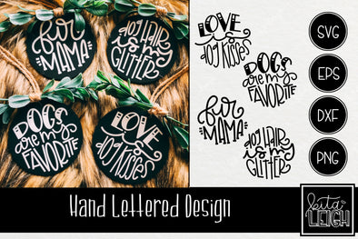 Dog Hand Lettered Rounds Bundle 2