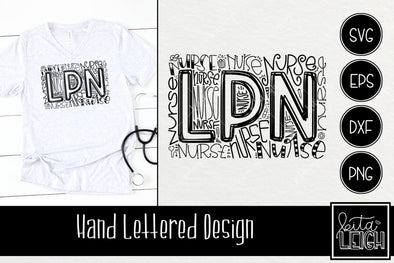 LPN Nurse Typography SVG