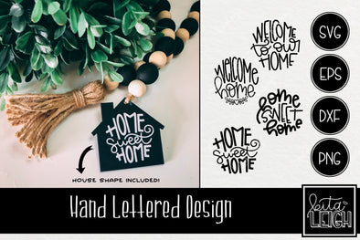 Home Hand Lettered Rounds in SVG