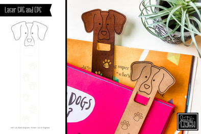 Laser Dog Bookmark SVG