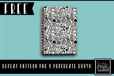 FREE Repeat Pattern PNG and Procreate Brush