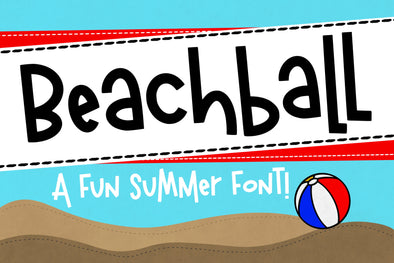 Beachball a fun Handwritten Summer Font