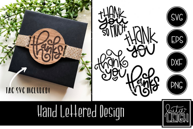 Thank You Hand Lettered Rounds