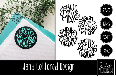 Mailer Hand Lettered Rounds
