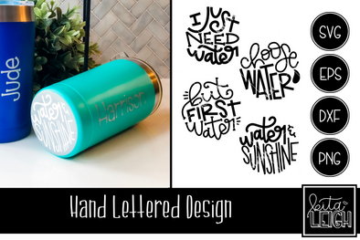 Water Hand Lettered Rounds
