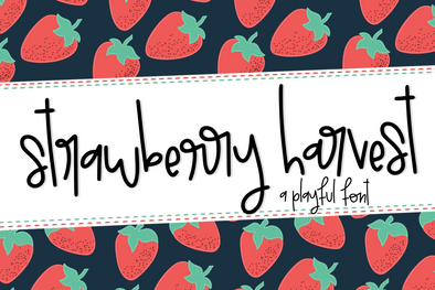 Strawberry Harvest a Playful Handwritten Font