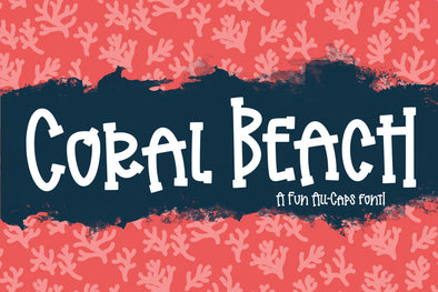 Coral Beach a Fun All-Caps Font
