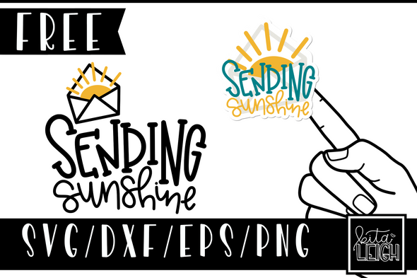 FREE Sending Sunshine Sticker and Cut File SVG
