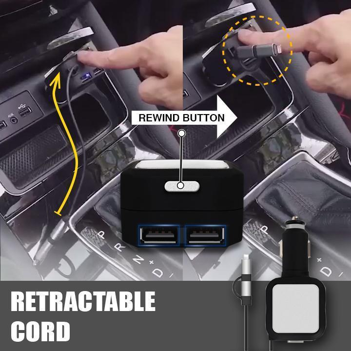 Automatic Retractable Cord Car Charger