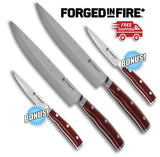 "Forged In Fire™ 8"" Chef Knife + BONUS Paring Knife"