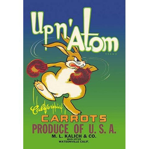 Up N' Atom California Carrots (Framed Poster)