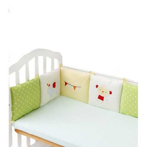 6PC A Set Baby Bed Bumpers Cotton Plush Safety Infant Toddler Nursery Beding Protection