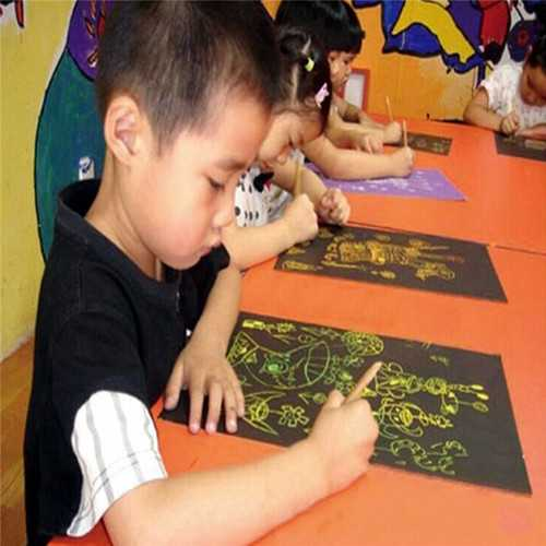 Funny Scratch Children Painting Notebook DIY Drawing Toy Big Blow Painting Children Educational Toys