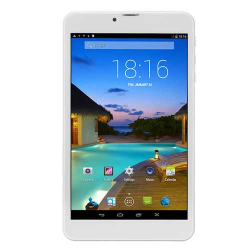 MTK6582 Quad Core 512M RAM 8G ROM Android 5.0 7 Inch Dual SIM 2G/3G Phablet- Gold