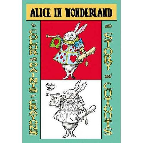 Alice in Wonderland: The White Rabbit - Color Me! (Framed Poster)