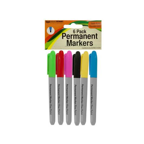 Colored Permanent Markers Set ( Case of 16 )