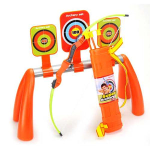 Archery Shooting Set For Kids With 3 Targets And Quiver