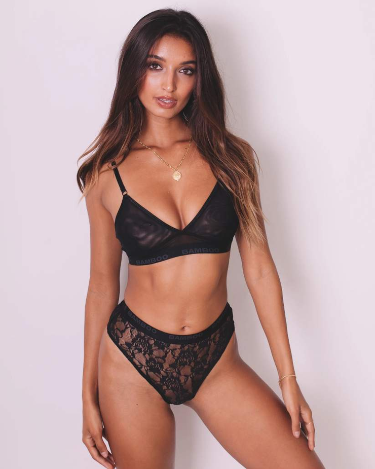 Intimate Naked Bralette & High Cut - Bamboo Underwear