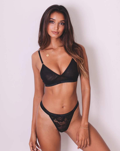 Intimate Naked Bralette & G-String Thong - Bamboo Underwear