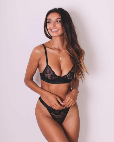 Intimate Lace Bralette & G-String - Bamboo Underwear