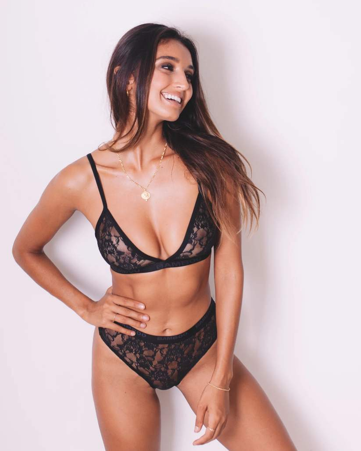 Intimate Triangle Bralette & High Cut - Bamboo Underwear