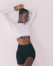 Long-Sleeve Crop Top - Bamboo Underwear