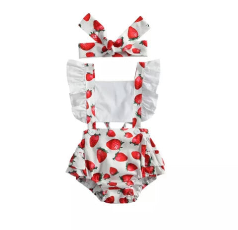 Strawberry Shortcake Romper