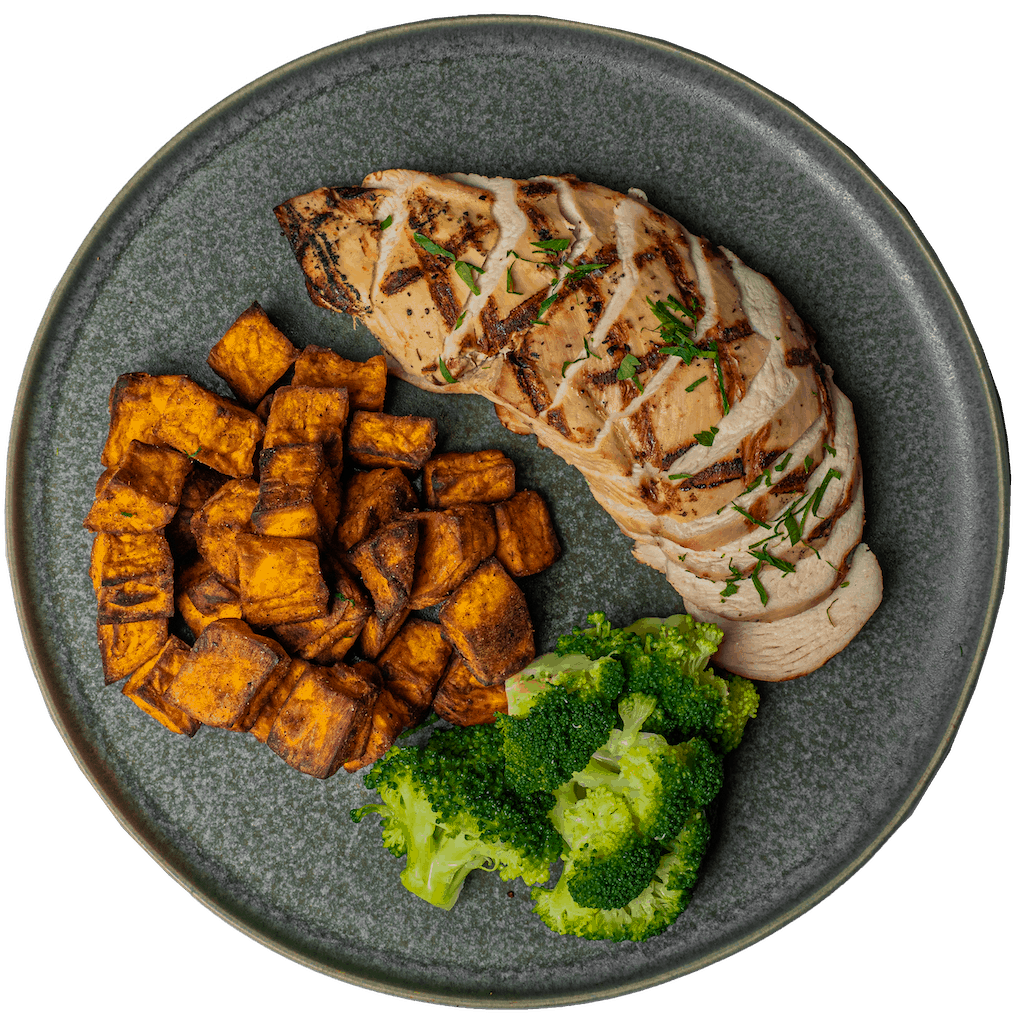 Chicken with Broccoli & Sweet Potatoes
