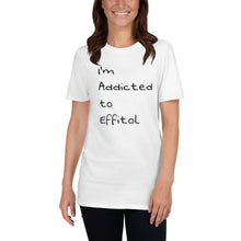 Load image into Gallery viewer, Women's Softstyle T-Shirt - 'I'm Addicted to Effitol' (grey, white)