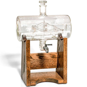 Bourbon Whiskey Decanter with Ship Inside