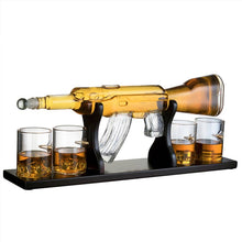 Load image into Gallery viewer, Elegant Gun Whiskey Decanter Set and Glasses