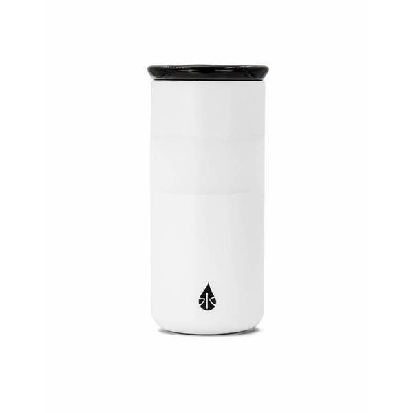 16 oz Matte White Tumbler with ceramic lid