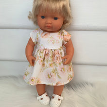 Load image into Gallery viewer, Miniland & Minikane 34 / 38 cm Peach Vintage Dolls Dress
