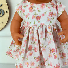 Load image into Gallery viewer, Pink Floral Vintage - 34 / 38 Miniland & Minikane Dolls Dress