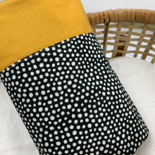 Load image into Gallery viewer, Mustard / Black & White Spot - Blanket & Pillow Set 2pc