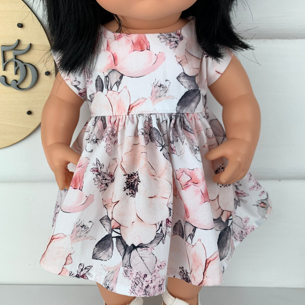 Miniland & Minikane 34 / 38cm White Alaska Dolls Dress