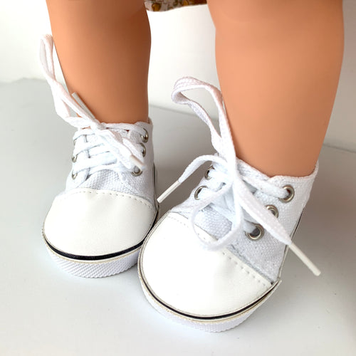 White Sneakers - Dolls Shoes 38cm Miniland