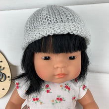 Load image into Gallery viewer, Dolls Beanie - White & Glitter
