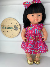 Load image into Gallery viewer, Candy Canes - 38cm Miniland Doll Dress