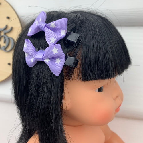 Dolls Hair Clip Set - Stars